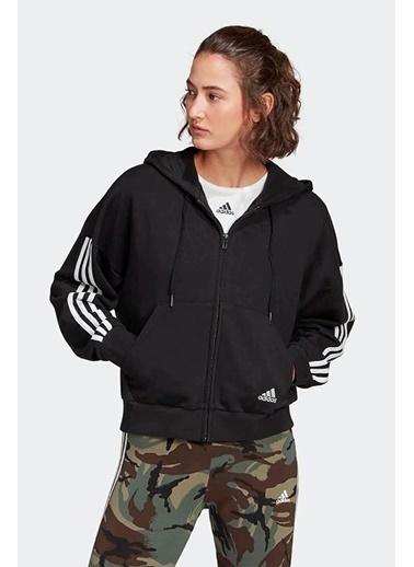 adidas Adidas Kadın Günlük Kapşonlu Sweatshirt W 3S Fz Hd Gl1462 Siyah